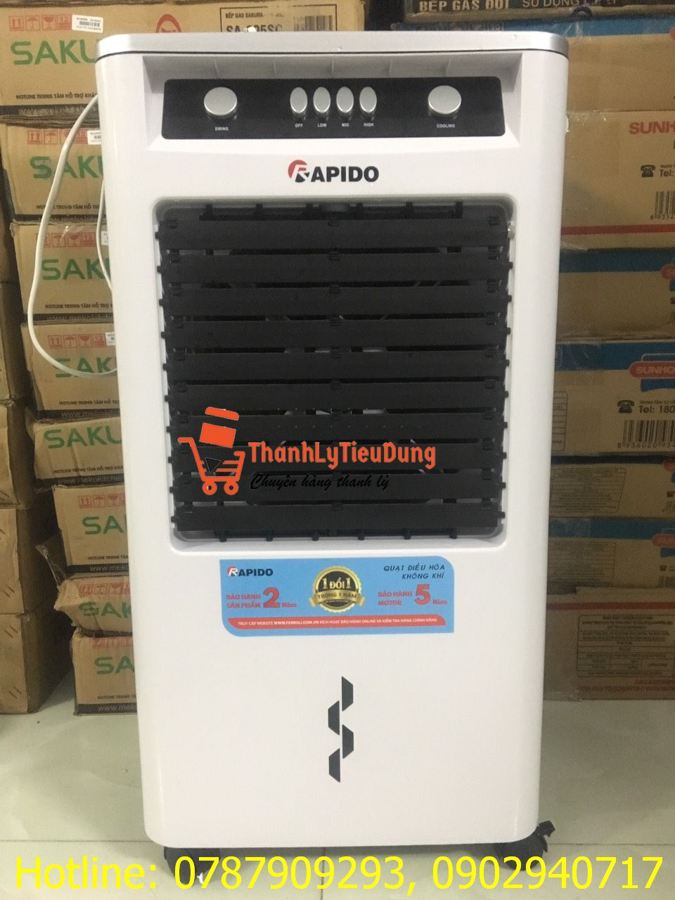 Quạt điều hòa không khí Rapido 3000M - HÀNG TRƯNG BÀY