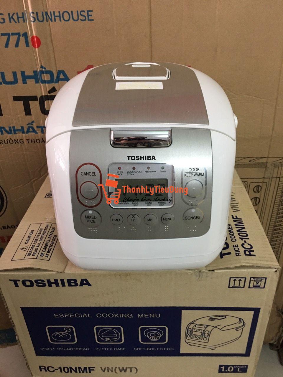 Nồi cơm điện tử Toshiba 1 lít RC-10NMFVN(WT) - HÀNG ĐÃ QUA SỬ DỤNG